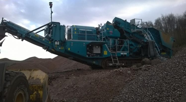 Powerscreen 1150 Maxtrak Cone Crusher processing sand and gravel