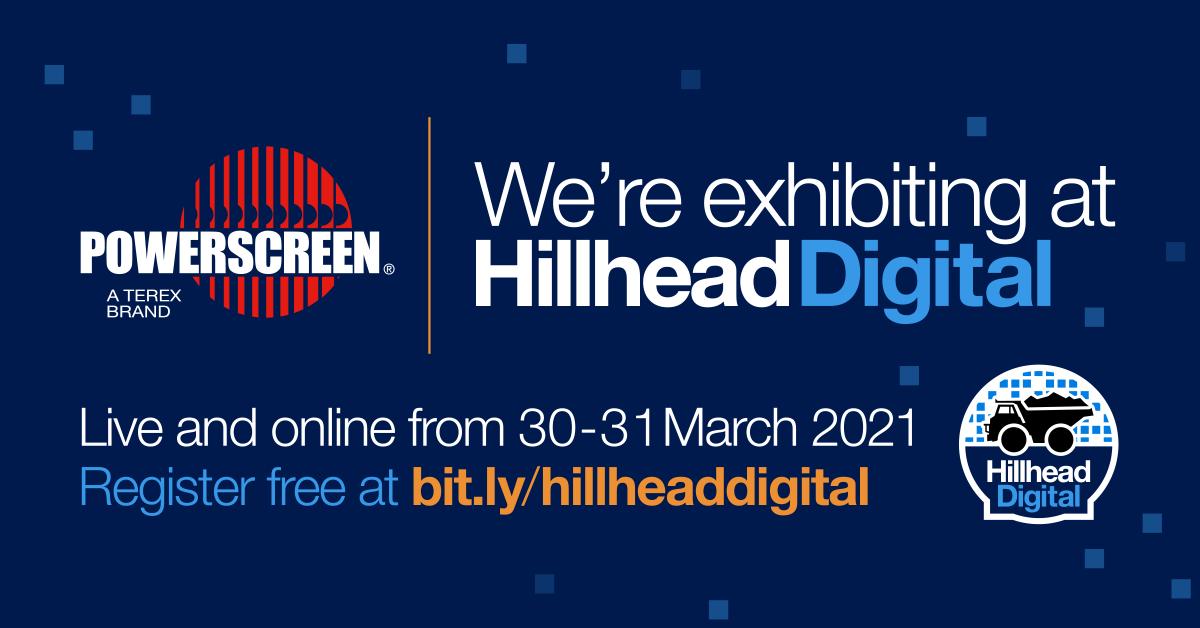 Powerscreen exhibits at Hillhead Digital, March 2021
